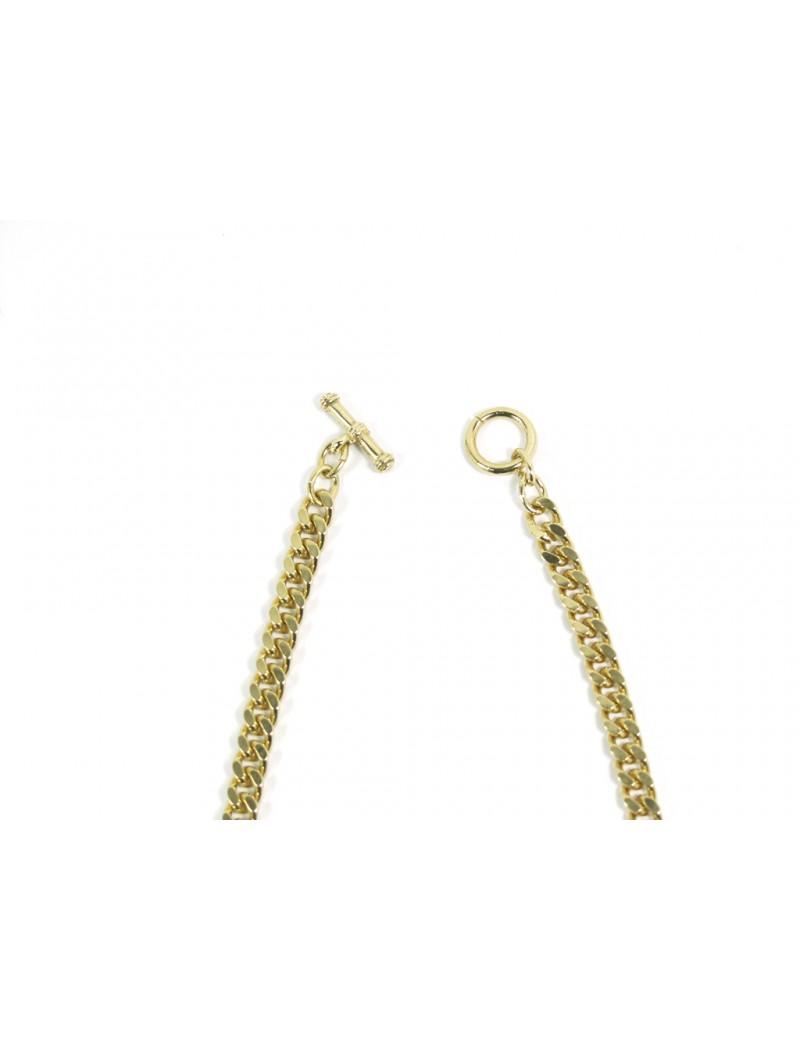 bracelet manchette dorée rose cabochon verre irisé