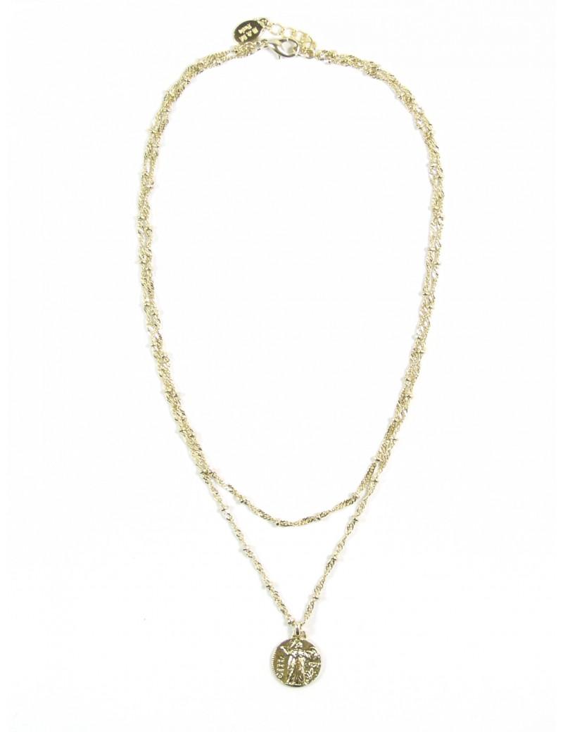 Bracelet chaîne et coquillage