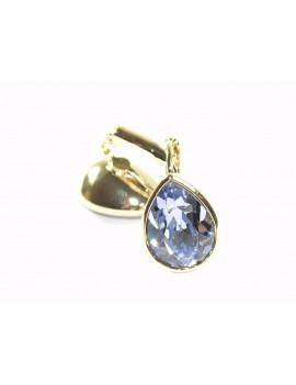 boucles d'oreilles cristal métal argenté