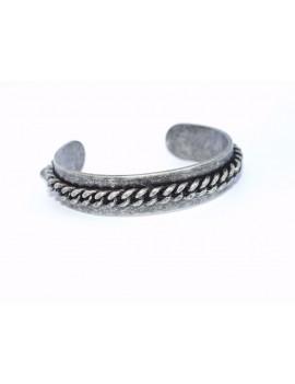 """bracelet rigide argenté façon """"galvanisé"""""""