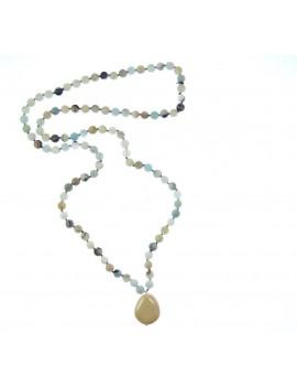 Collier perles de pierres naturelles
