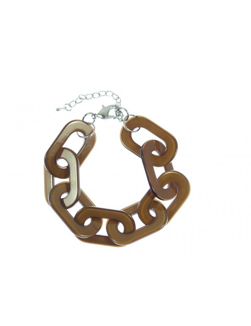 bracelet en résine marron