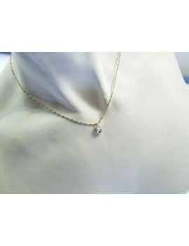 Collier chaîne fine cristal