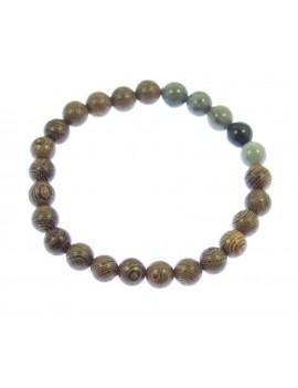 Bracelet perles de bois et...