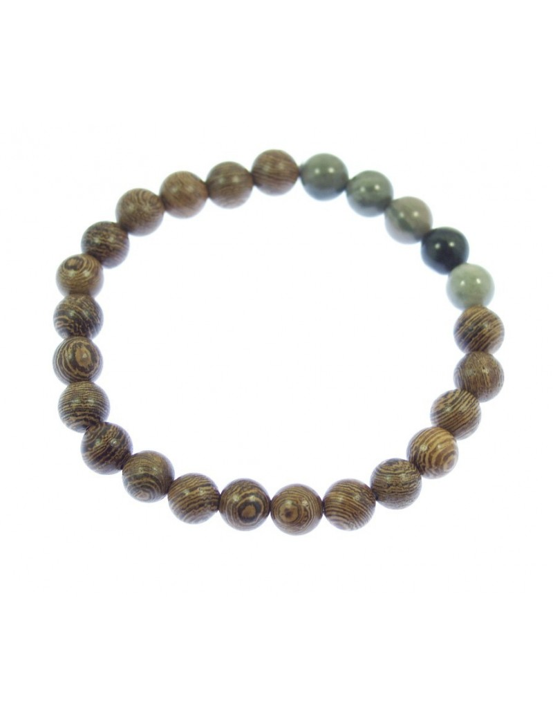 perles de bois et pierres semi précieuses