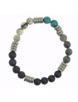 Bracelet pierres et metal