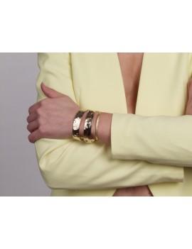 Bracelet aspect froissé