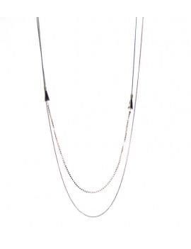 collier long fine chaîne et...