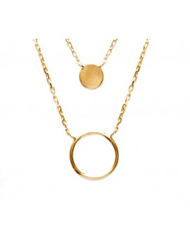 Collier double rangs cercle...