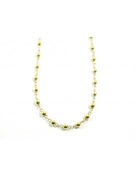 Collier perles dorées