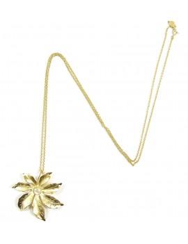 Collier long pendentif fleur