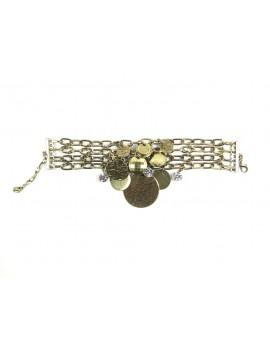 Bracelet chaîne médailles