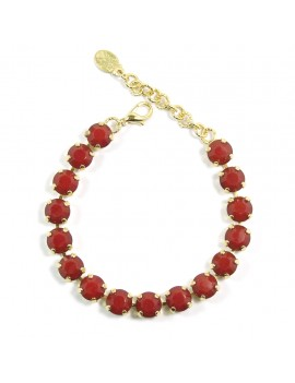 Bracelet cristaux rouges...