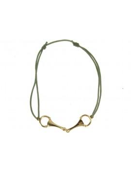 Bracelet mors plaqué or