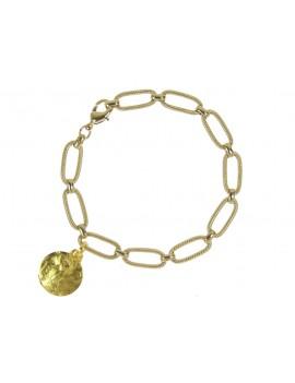 Bracelet chaîne et médaille