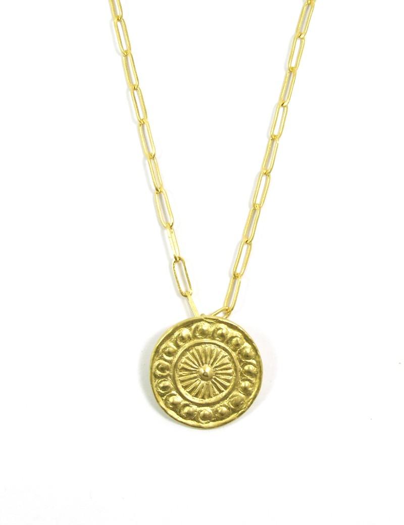 Collier médaille auréole d'ange