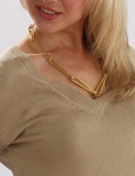 collier grandes agrafes dorées