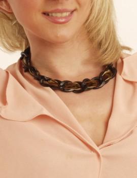Collier chaîne et velours
