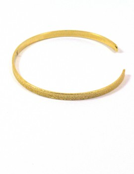 Bracelet jonc plat doré