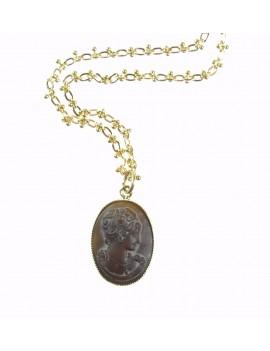 collier pendentif camée