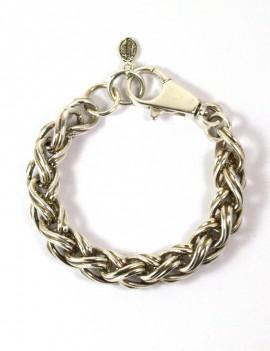 Bracelet chaîne argent vieilli