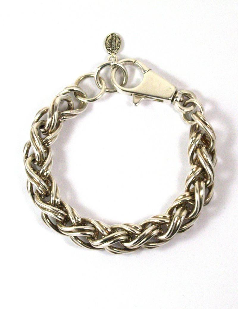 Bracelet couleur argent vieilli