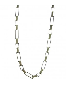 collier chaîne argentée