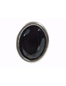 bague verre noir