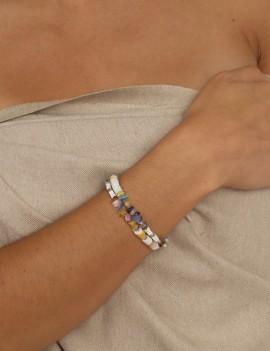 Bracelet pierres et coquillages