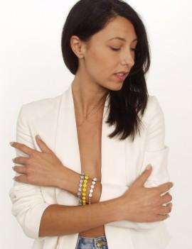 Bracelet chaîne cristaux