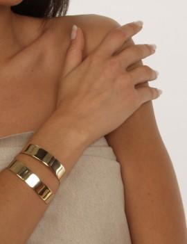 Bracelet manchette doré...