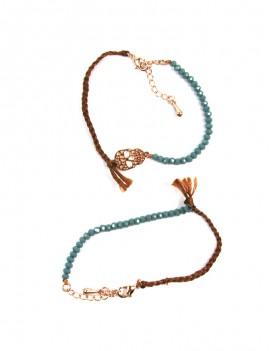 Bracelet fin bleu fané et...