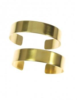 Bracelet manchette doré mat