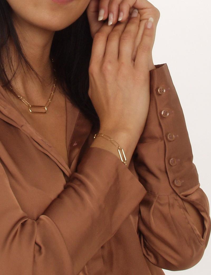 bracelet chaîne dorée