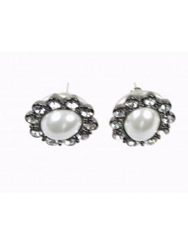 Boucles d'oreilles perle et...