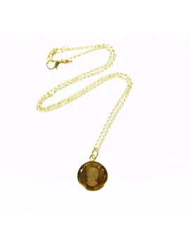 Collier verre intaille