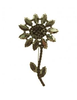 Broche fleur pétales...