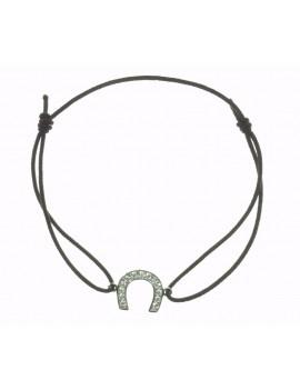 Bracelet fer argent cristaux
