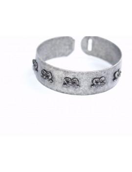 Bracelet rigide leger metal...