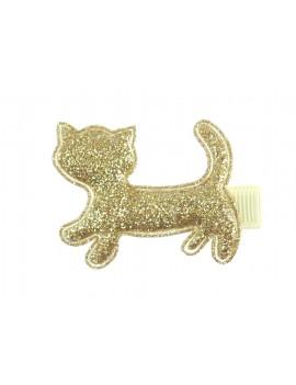 chat doré sur barrette