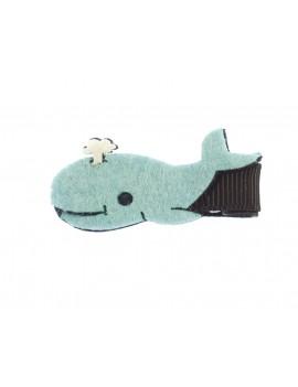 baleine bleue sur barrette