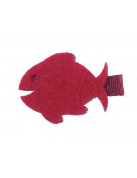 poisson rouge sur barrette
