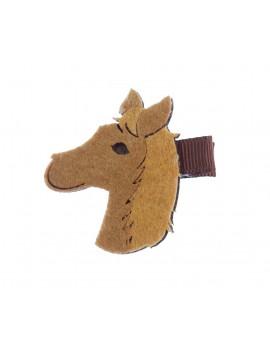 Tête de poney sur barrette