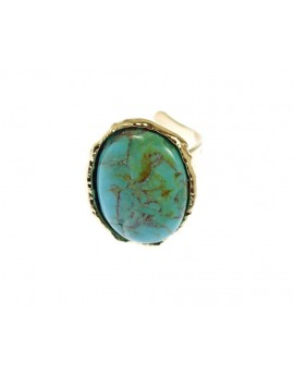 Bague cabochon amazonite